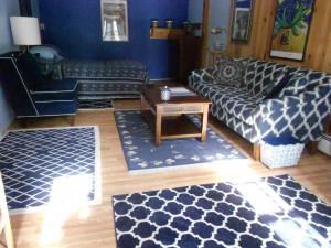 New oak laminate floors just installed!  Terrific...